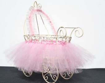 Baby Shower Centerpiece, Small Baby Carriage Centerpiece, Adorable Baby Room Decor, Unique Baby Shower Centerpiece, Vintage Baby Centerpiece