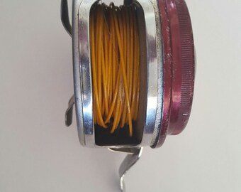 Vintage 1960's South Bend Automatic No. 1180 Model flyfishing reel, South Bend Famous in Fishing