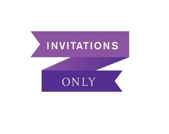 Wedding Invitations ONLY