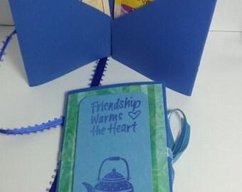 Share a cup of tea, tea bag greeting