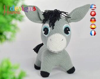 PATTERN - Donkey (Amigurumi Crochet)