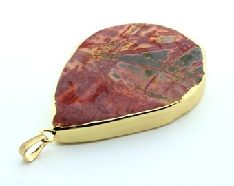 Gold Jasper Breciated Pendant
