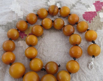 RARE Tribal African Amber Necklace