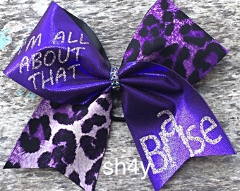 Cheer Bow Purple I'm all about that base