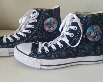 5 Seconds of Summer hand painted shoes #5SOS