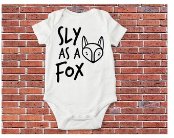 Fox Bodysuit or Shirt, Fox Shirt, Baby Fox
