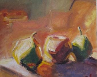 Still Light, original still life oil painting, 14 x 14
