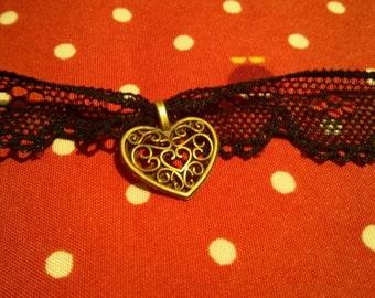 Elisa Black Lace Choker Necklace