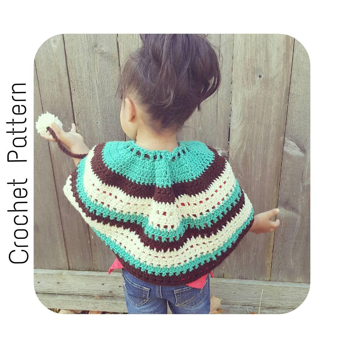 Easy Crochet Child Poncho Pattern ~ Pakbit for .