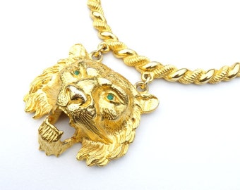 Necklace Vintage Pauline Rader Couture Lion Runway Necklace