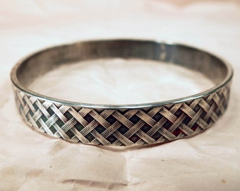 Ready to SHIP NOW ~ Sterling Silver Bangle - Heavy Silver Bangle - Silver Bracelet