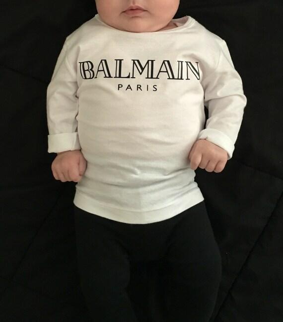 balmain paris baby shirt. Black Bedroom Furniture Sets. Home Design Ideas