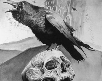 Skull and Raven (original)