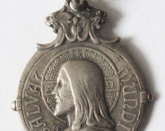 Rare Old Religious Medal JESUS