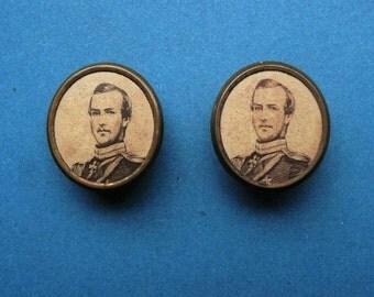 Antique, Victorian Collar Studs Edward VII/Prince Leopold
