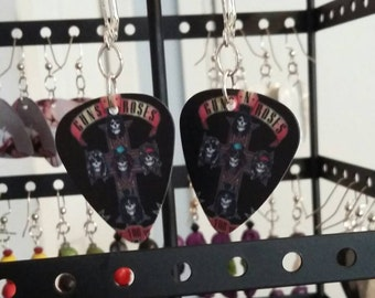 Guns N Roses Guitar Pick Earrings