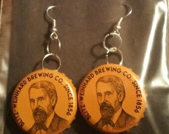 Henry's Orange Hard Cider Earring Bottle Caps