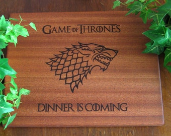 Game of Thrones, Personalized Cutting Board, Dinner is Coming, GOT, Winter is Coming, Father's Day, Wedding, Birthday Gift, Mother's Day