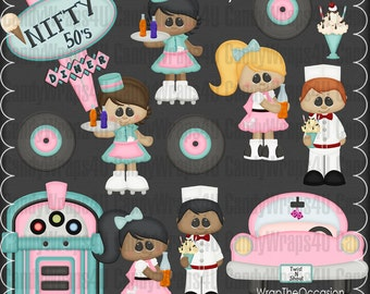 Nifty Fifties Diner - CU Clipart