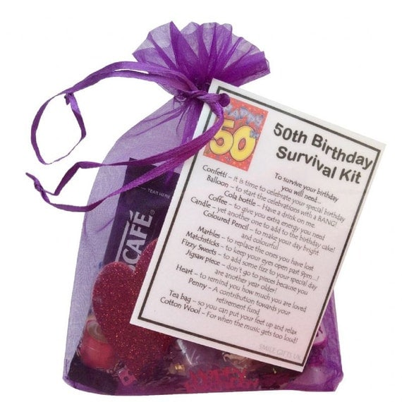 50th Birthday Survival Kit 50th Gift Gift For By SmileGiftsUK