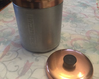Vintage Aluminum Sugar Canister and Extra Lid