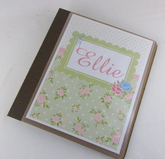 girl baby book shabby baby memory book chic baby shower gift
