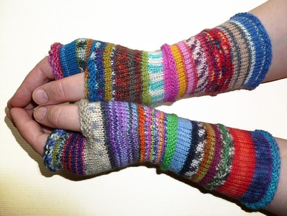 Knit Fingerless gloves | Arm warmers | Womens Fingerless | Long Fingerless Mittens | Wrist warmers | Hand warmers