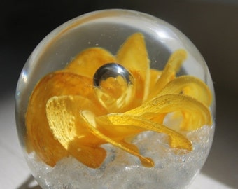 SALE 30% OFF Glass paperweight