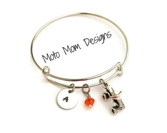 ATV Bracelet - Motocross Jewelry - Racing Jewelry - Motocross Bracelet - ATV Jewelry - Motocross - Fourwheeler - Quad Bracelet
