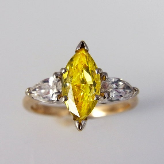 Canary Diamond Engagement Ring Canary Diamond Ring Yellow