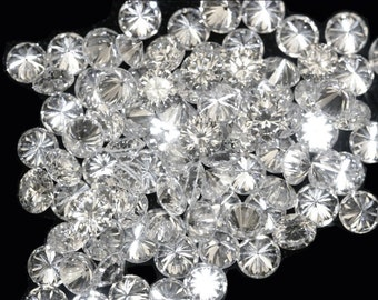 REAL 100% NATURAL Loose 100 Round Diamonds Clarity-I1-I3 Color-H-I White Colour Q117