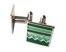 Speidel Cufflinks - Green Enamel Cufflinks - Speidel Mid Century Silver Cufflinks - Mens Fashion - Mens Gift