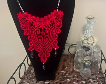 Lace Bib Necklace
