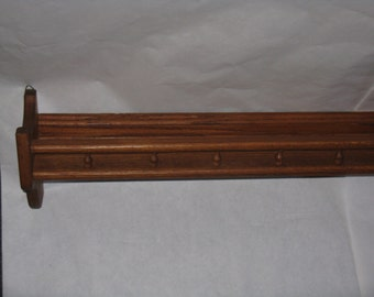 Large long oak plate rack display shelf over 4 feet