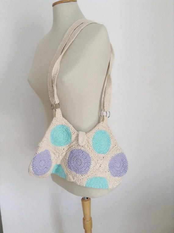 MADE TO ORDER Crochet purse, tote bag, Crochet bag, acqua purple bag, crochet handbag,  women bag,  handmade bag, totes bags, bags fashion