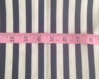 Degen Fabrics Co. - Navy and White striped fabric