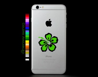 Hibiscus Phone Decal (Multi-color)