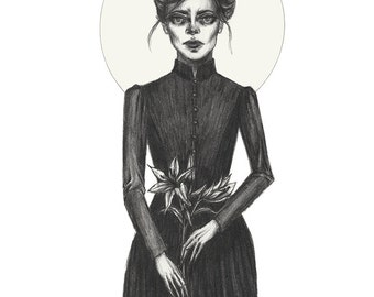 Lady In Mourning- 5x7 Print