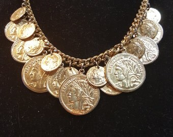 FREE  SHIPPING  Vintage Gold Coin Jewerly
