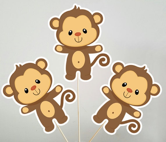 Monkey Centerpieces Monkey Decorations Monkey Centerpiece Monkey