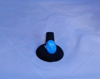 Turquoise and Silver Adjustable Ring
