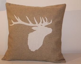 White Stag/Deer/Elk cushion cover pillow cover country style