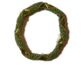 Green spiral Bracelet