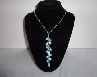 Faceted Moonstone Lariat Necklace
