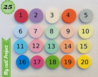 25 - Gift tags circle - Cupcake toppers - Color of your choice - 20 colors - Wedding tags - Baby Shower tags & cupcake toppers