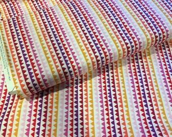 Coral Zipper Stripe, Pets a Plenty, from Michael Miller Fabrics, Sorbet