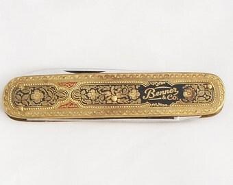 1950s Toledo Pocket Knife Solingen / Vintage German Advertising Folding Knife