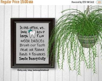 60% OFF SALE Orthodontist Gift, Orthodontics, Art Print, Office Decor, Brush Your Teeth, Braces Sign, Printable Art, Wall Decor, Gift for Or