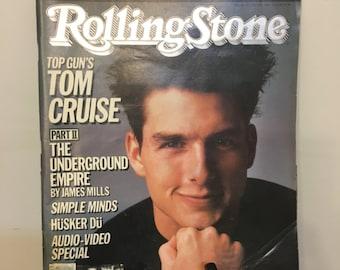1986 Tom Cruise Rolling Stone Magazine, Vintage Tom Cruise Rolling Stone Magazine, Rolling Stone Magazine, Tom Cruise, Gifts under 20 Dollar
