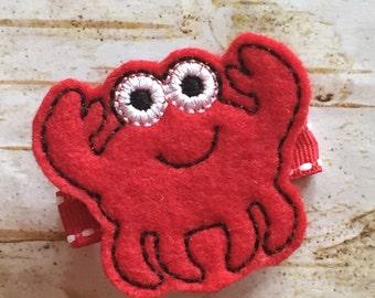 Red Crab Felt Clippie